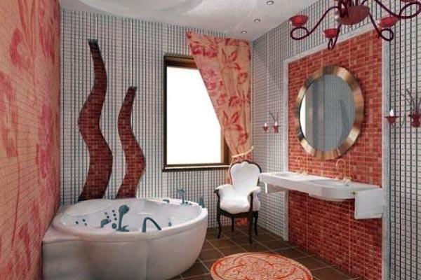 Ванная комната с мазаикой